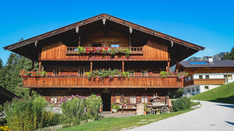 One of the farmhouses in Alpbach