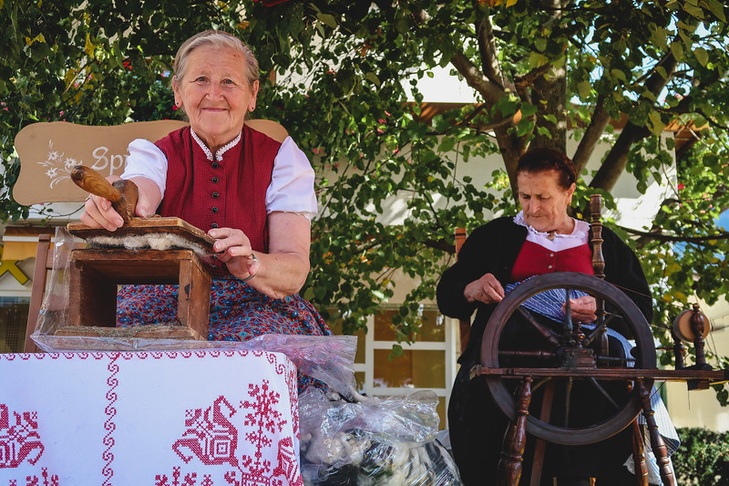 Women showcase their traditions at the festival in Reith im Alpbachtal