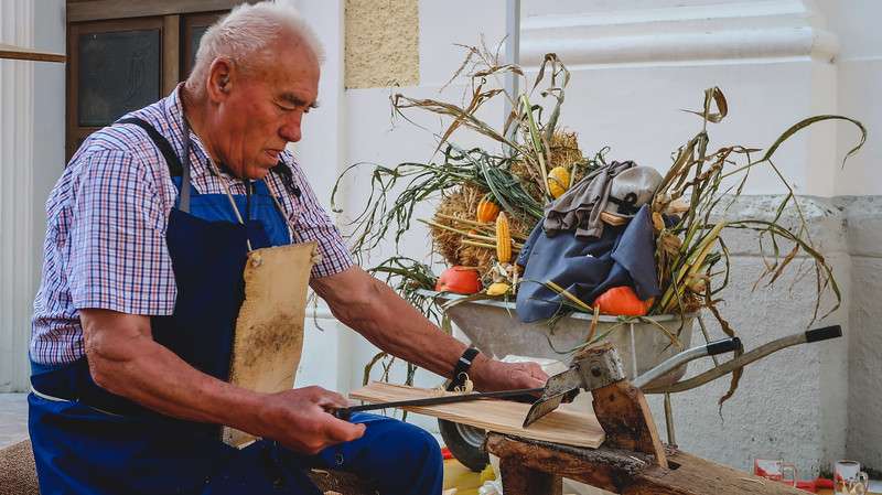 Traditional craft demonstrations take place in Reith im Alpbachtal