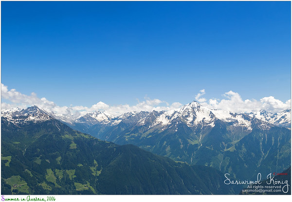Mountain range, Zillertal Alps