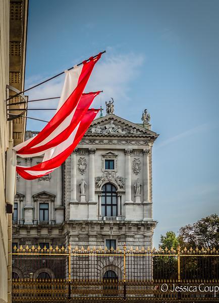 Flags at Hofburg Palace