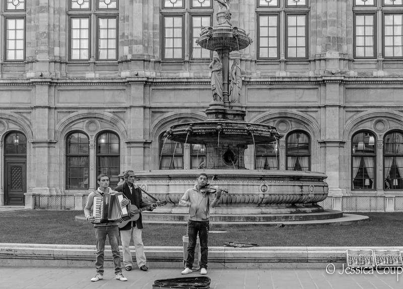 Musicians Outside the Opera Building