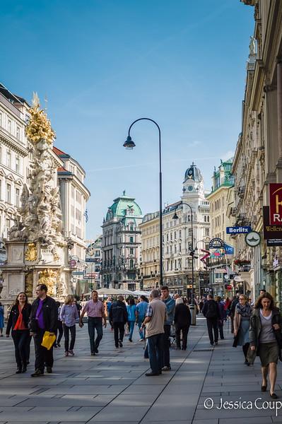A Busy Street in Vienna