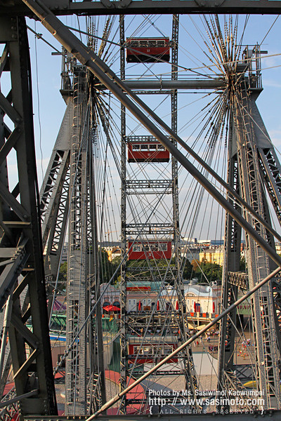 View from up here, at Wiener Prater Amusement Park