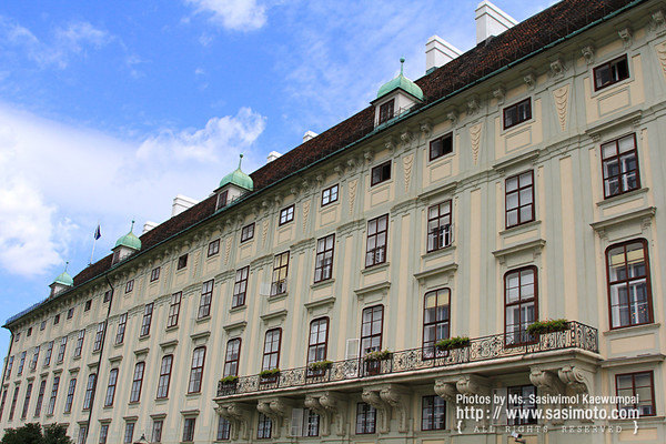 The Leopoldinischer Trakt (Leopoldine Wing) of the Hofburg Imperial Palace