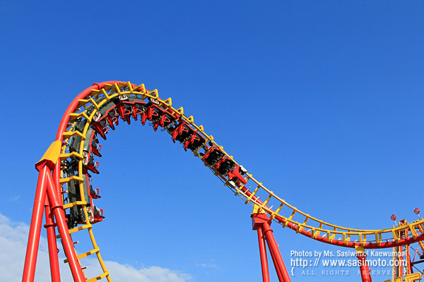 Roller coaster track in Red and Yellow
