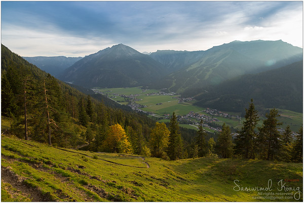 The Achenkirch during Autumn in the evening