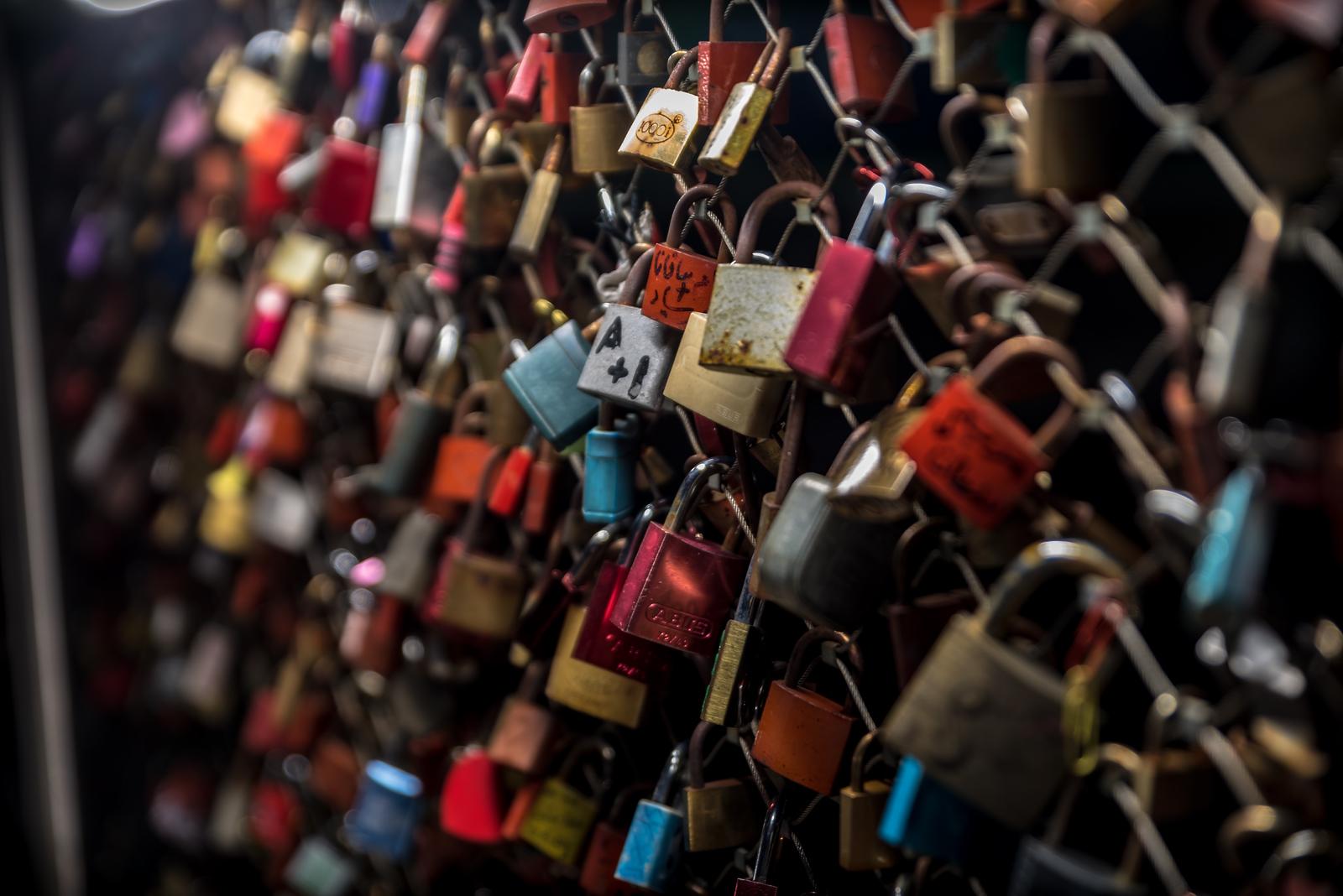 Love Locks Staatsbrücke