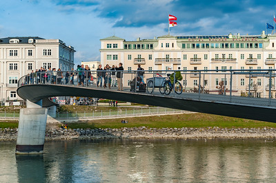 Curved Footbridge near Hotel Sacher