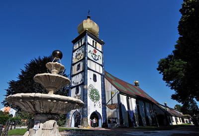 St. Barbara Church by Hundertwasser, Barnbach