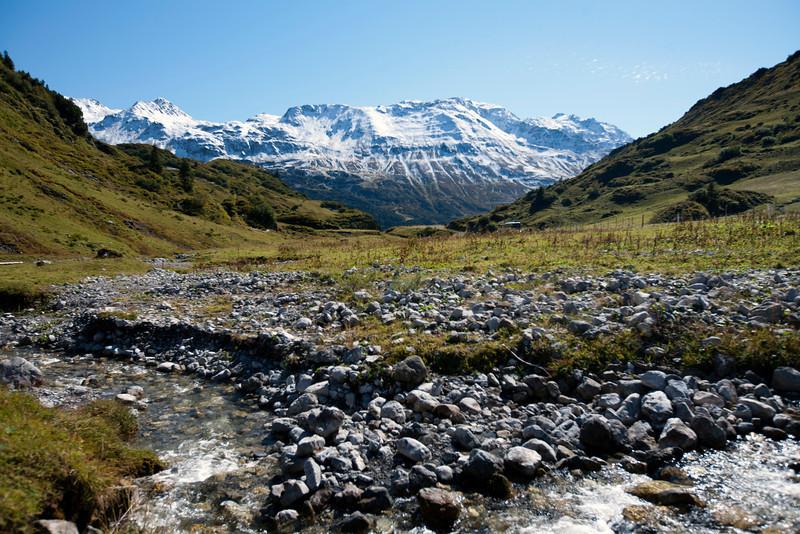 Arlbergpass.  Near Dalaas, Austria.  East Tyrolia.  September 2012.