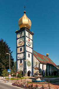 Hundertwasser's Church of St. Barbara, Barnbach