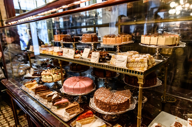A display case at Demel, Vienna; Confectionary art since 1786