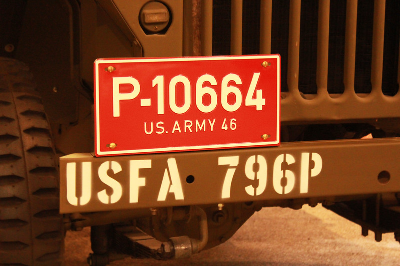 US Army Wileys Jeep Number Plate
