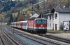The freights and the passenger expresses of the Brenner route are mixed up with local services from Innsbruck - on 13 November 2006 OBB 1144.255 pushes its push-pull set away from Matrei