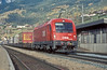 On a beautiful clear sunny afternoon at Matrei am Brenner OBB 1216.007 heads an intermodal service through the station on its way to Brenner and a change of traction (the multi-voltage locos are still not working into Italy) on 13 November 2006