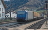 TXLogistic provide much of the open-access service on the north side of Brenner - here, leased 185.520 is st the rear of another intermodal service for Italy on 13 November 2006