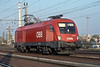 OBB 1116.094 has brought a freight into Breclav but has no return train working so is seen running light engine back to Austria on 7 Noveember 2006