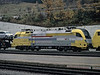 Dispolok ES64 U2 033 arrives at Brenner with a load of cars on 29 October 2008