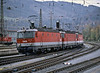 Banking engines from Brenner return eastwards through Innsbruck Hbf. on 28 October 2008 - OBB 1144.206/236/244