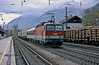 Although most of the locos in the Innsbruck pool are of the later 1044/2 version (now converted to 1144 variants) a handful of older locos are still around - OBB 1044.103 heads east through Brixlegg with a train of Itslian trucks on 28 October 2008