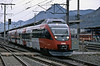 OBB 4024.061 is one of the units based at Innsbruck that have taken over the hourly stopping services from Rosenheim, seen leaving Jenbach on 27 October 2008