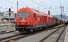 OBB 2016.084 and 2016.081 double head a freight through Graz Hbf. on 23 September 2011