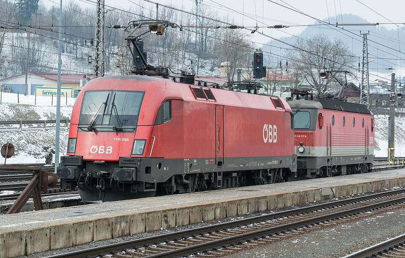OBB 1116-068 + 1144-074 Scwarzach St. Veit 20 March 2018