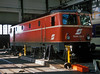 OBB 1044.065 undergoes maintenance at Salzburg on 23 May 1989