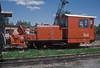 Narrow gauge snowplough 98.620 sits in the yard at Gmund on 22 May 1989