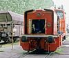 Yes, it's the old loco-eats-man shot again! OBB 2067.050 undegoes serious maintenance on 18 May 1989 at Graz