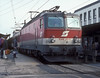 OBB 1044.251 comes to a halt with a westbound express at St. Polten Hbf. on 5 November 1993