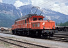 OBB 1020.004 is seen at Innsbruck on 24 May 1989 waiting to pilot another freight over the Brennero line