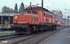 OBB 1020.026 runs onto the depot at Villach on 19 May 1989