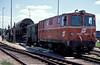 OBB 2095.007 shunts the yard at Gmund on 22 May 1989 loading transporter wagons