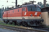 OBB 1043-010 in the 'new' livery runs onto the depot at Zfl Villach on 19 May 1989