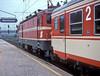 Still in original 'Swedish' livery OBB 1043-004 waits to depart Bischofshofen on 17 May 1989