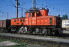 OBB 1161.022 basks in the late afternoon sun of the depot yard at Salzburg Gnigl on 23 May 1989