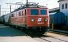 OBB 1110.007 runs through Attnang Puchheim with a freight train on 23 May 1989