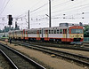 GKB diesel multiple units VT70.09 and VT70.11 arrive at Graz Hbf. on 18 May 1989