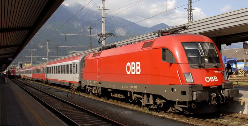 OBB 1116 196, Innsbruck, 24 June 2006 - 1649