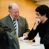 Robert Putnam, author of 'Our Kids: The American Dream in Crisis', signs a copy of his book for Gonzalo Arbiza, a student from Westminster, at Fitchburg State University during the keynote lecture as part of the Community Reads program on Tuesday, April 4, 2017. SENTINEL & ENTERPRISE / Ashley Green