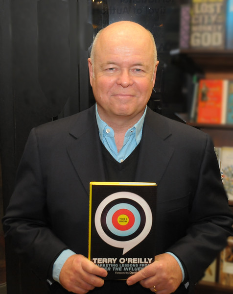 """Terry O'Reilly at the launch of his latest book """"Marketing Lessons from Under the Influence"""" at Ben McNally's Toronto book store."""