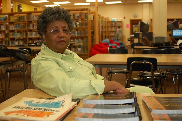 Author Deloris Holt, author of Heritage Donates to Audubon M.S.