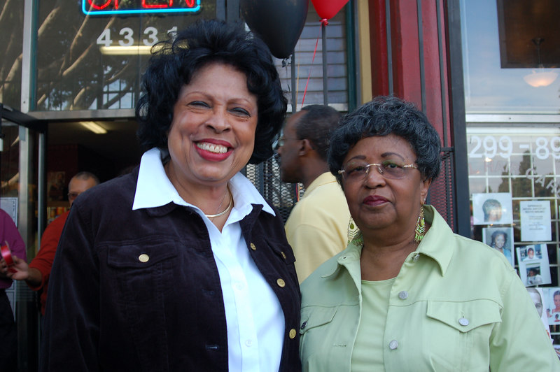 Congresswoman Diane Watson and Deloris Holt, author of Heritage