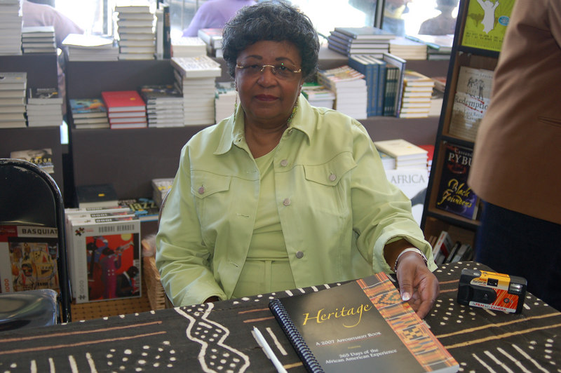 "Author Deloris Holt, who penned the book ""Heritage, a 2007 Appointment Book"" featuring 365 Days of the African American Experience."