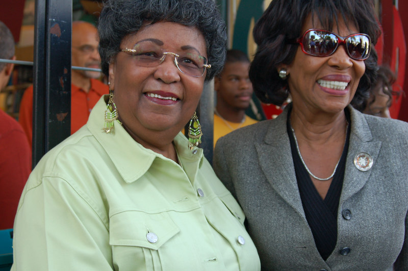 Deloris Holt and Congresswoman Maxine Waters