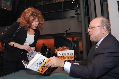 Nelson DeMille (right).