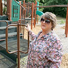 Debra Phillips talks about her autistic grandchildren when they all visited Barrett Park on Thursday afternoon. SENTINBEL & ENTERPRISE/JOHN LOVE