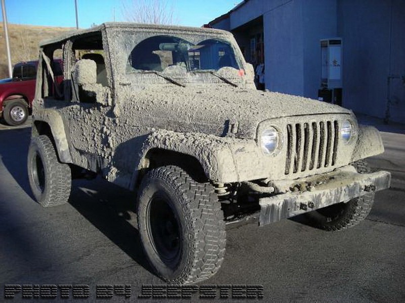(JEEP #7) JUST CAME BACK FROM AZUSA CANYON OFFROAD PARK. THERE WAS MORE MUD INSIDE THAN OUTSIDE!!!